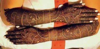 dulhan mehndi design for wedding